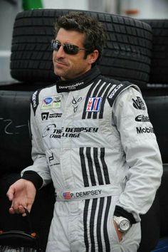 ellen pompeo and patrick dempsey tumblr   love him in his racing gear   ~Ellen Pompeo and Patrick Dempsey~