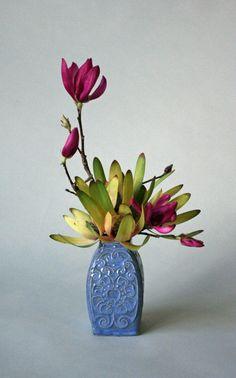 Safari sunset protea and tulip magnolia 639x1024 365 Days of Ikebana Day 221