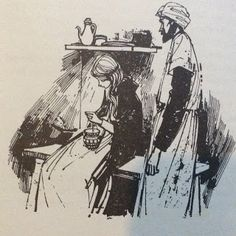 Margery Gill illustration from The Saracen Lamp by Ruth M Arthur, 1970