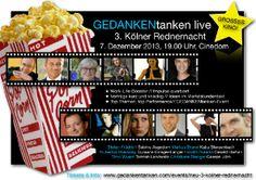 Vortrag bei der 3.Kölner Rednernacht am 7.12. 2013 http://www.gedankentanken.com/events/neu-3-kolner-rednernacht/