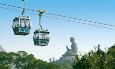 Ngong Ping 360 cable car eliminates the need to endure a windy bus ride to the Po Lin Monastery on Lantau Island.