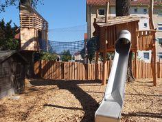 Baumhäuser mit Seilbrücke und Rutsche Planer, Image, House, Kids