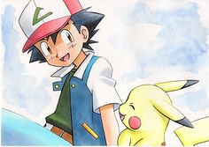 オカモチ on - Poke Ball Pokemon Show, Pokemon Live, Ash Pokemon, Pokemon Fan Art, Cool Pokemon, Pokemon Stuff, 30 Day Art Challenge, Pikachu Art, Ash Ketchum
