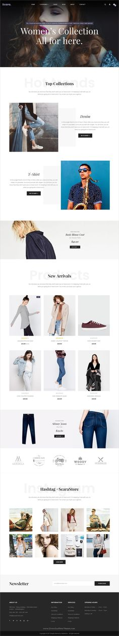 Scara is clean and modern design responsive #Shopify theme for stunning #eCommerce website with drag and drop builder download now..