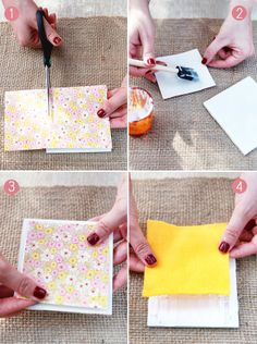DIY: Drink Coasters from Tiles and Paper