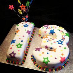 13th Birthday Stars Cake