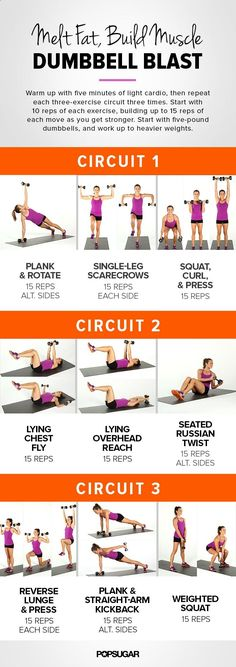 Melt fat and build muscle with our dumbbell blast circuit workout!