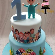 Images about #cocomeloncake on Instagram Baby Boy 1st Birthday Party, 2 Birthday Cake, 2nd Birthday Parties, Abc Kids Tv, Melon Cake, Shark Cake, Fondant Cakes, Birthday Decorations, Minis