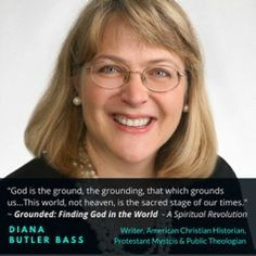"A great conversation with Diana Butler Bass, the author of ""Grounded. Finding God, Butler, Diana, Writer, Interview, Thursday Night, American, Conversation, Bass"