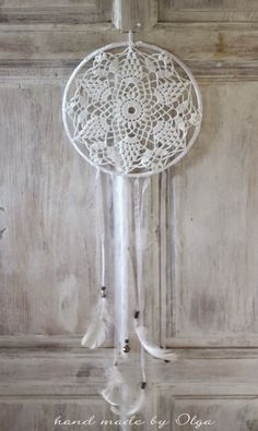hand made by Olga: Łapacze snów ... na koniec lata Lace Dream Catchers, Dreamcatchers, Colours, Beige, Pure Products, Crochet, Home Decor, Diy Decorating, Dream Catchers