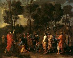 Poussin, Ordinazione, I serie,  Cassiano, 1636-1640, olio su tela, 95.9 × 121.6 cm, Kimbell Art Museum, Fort Worth, Texas