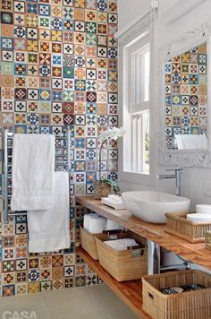 Se llaman baldosas hidráulicas, para el baño de nuestra futura casa!