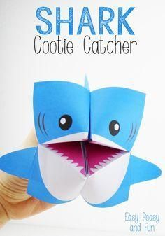 Shark Cootie Catcher - Fun Fortune Teller Origami project for kids (with a free printable and instructions)