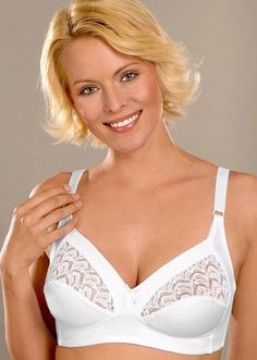 a5f0bd1131 86278 Full Support Wire-Free Cotton Bra by Naturana Lingerie