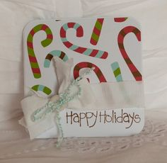 Christmas Cards Set of TEN Candy Cane Style 91 by CardinalBoutique, $20.00