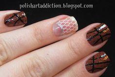 Polish Art Addiction: Basketball Nails