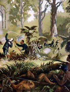 Death of Major Gustavus von Tempsky, Taranaki War, New Zealand, 1845 New Zealand Art, World Globes, Art History, Death, Painting, Image, Maori, Painting Art, Paintings