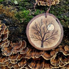 499 Best Wood Slices And Branches Images In 2019 Christmas Decor