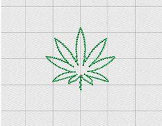 Marijuana Feltie Mini Cannabis Leaf Embroidery by Pixels2Threads