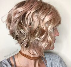 Image result for curly stacked bob haircuts