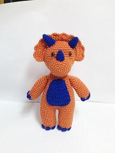 Ravelry: Triceratops Dinosaur Doll pattern by Mary R. Crochet Dinosaur Patterns, Crochet Patterns, Crochet Toys, Knit Crochet, Amigurumi Toys, Free Knitting, Teddy Bear, Dolls, Crafts