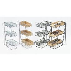 3 Tier Condiment Display Item:  Black Frame 1235-13-43 (Faux Glass) 1235-13-60 (Bamboo Bins) 1235-13-96 (Midnight Bamboo Bins) Silver Frame 1235-39-43 (Faux Glass) 1235-39-60 (Bamboo Bins) 1235-39-96 (Midnight Bamboo Bins) These displays are an all-purpose solution for your food service area. They can be used  to display and serve your forks, spoons, and knives, or they can be used to display condiments of your choice.