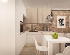 MIESZKANIE W ŁOMIANKACH - Mała otwarta wąska kuchnia w kształcie litery u w aneksie, styl nowoczesny - zdjęcie od MKdesigner