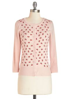 Cherry Tales Cardigan. Add retro flair to your ensemble by donning this cherry-print cardigan! #pink #modcloth