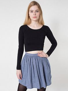 Chambray Full Woven Skirt