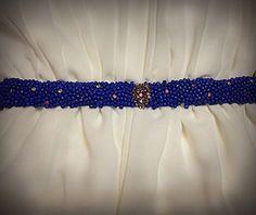 Handmade Swarovski and beads belt