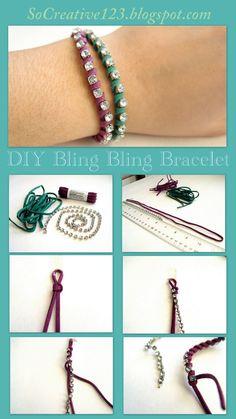 So Creative!: DIY Bling Bling Bracelet