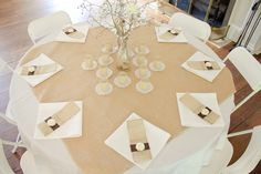 Burlap Wedding Table