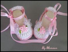 """Nouvelle collection : chaussons ballerines (0-3) """"les ballerines """"Princesse"""" : Mode Bébé par mamountricote"""