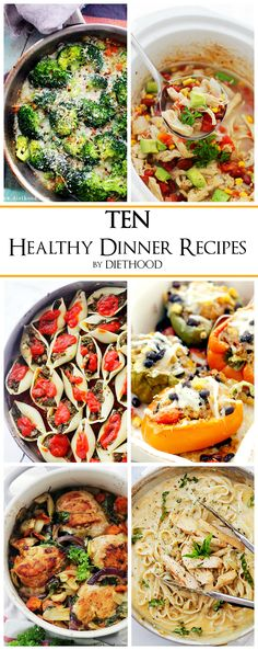TEN Healthy Easy Dinner Recipes | www.diethood.com