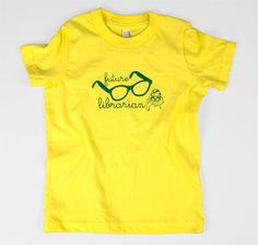 Future Librarian kids t-shirt $15