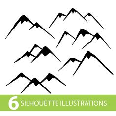 Mountain Silhouette, Card Making Designs, Vinyl Cutting, Cutting Board, Embroidery Fabric, White Aesthetic, Digital Stamps, Silhouette Cameo, Vector Art