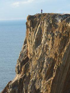 The Eigg - a sea cliff on the island of Yell, Shetland