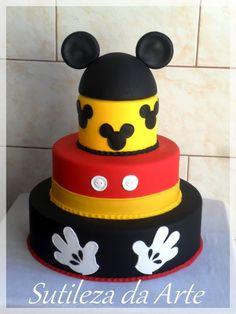 Bolo Falso / Fake Mickey | Sutileza da Arte | 3026EF - Elo7