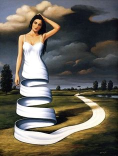 Surrealism Rafal Olbinski's adventure world I love Surrealist art. Surrealism Painting, Pop Surrealism, Modern Surrealism, Fantasy Kunst, Fantasy Art, Art Chicano, Adventure World, Surreal Artwork, Surreal Portraits