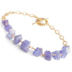 Rough Uncut Tanzanite Bracelet by BijouxOdalisque on Etsy, $155.00