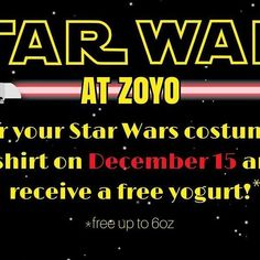 Happy Friday! May the FroYo Force be with you! #zoyogurt