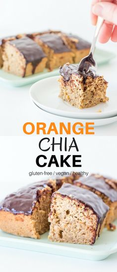 Do yourself a favour and try this Orange Chia Cake. It's quick to make, incredibly delicious and not too bad for your health either.#vegan #healthy #cakes #glutenfree #recipes #chocolate