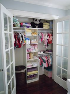 natural elements of nature in baby  nursery organized closet