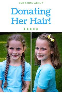 Have you wondered about donating your hair? Or donating your daughters hair? We donated Dawns Beautiful Braid to Wigs for Kids! Find out more information on the blog!  Hair Donation | Giving Back | Teaching kids to be kind