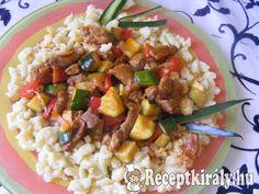Zöldséges pörkölt nokedlivel Just Eat It, Hungarian Recipes, Chana Masala, Tasty, Ethnic Recipes, Food, Essen, Yemek, Meals