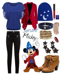Sorcerer mickey by disneydreamdress on Polyvore featuring polyvore мода style J Brand Amrita Singh Alinka NARS Cosmetics fashion clothing