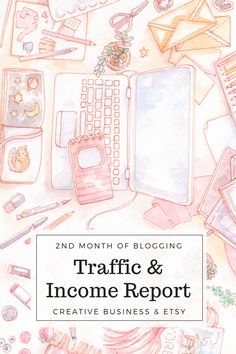 My traffic & income report for my second month of blogging!  2017 is the year I transition from work-for-hire freelance designer and illustrator to a (hopefully!) more fulfilling, financially stable creative business. I'll be blogging about my progress through-out 2017, showing my blog stats, Etsy shop income (starting super small!) and art commission income.