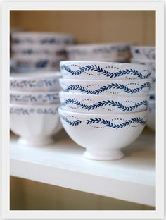I am a freak for the love of blue and white dishes!