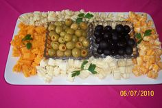 Cheese & Olive Tray Provided by Floral Expressions, by the sea