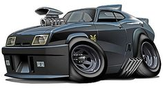 Mad Max Interceptor Muscle Car Cartoon Tshirt - Don't mess with auto brokers or sloppy open transporters. Start a life long relationship with your own private exotic enclosed transporter. http://LGMSports.com or Call 1-714-620-5472 today